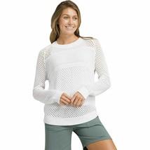 NWT New Womens Prana Sweater M Kokimo Soft Organic Cotton Layer White Ca... - $117.64