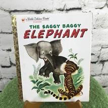 The Saggy Baggy Elephant Little Golden Book LGB  - $3.22