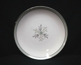 Noritake China Lucille 5813 Bread & Butter Plate Gray Green Band Flowers... - $9.89