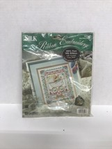New Bucilla Baby Bunny Sampler Cross Stitch Kit 33527 Vintage 8X10 Linda Gillum - $12.86