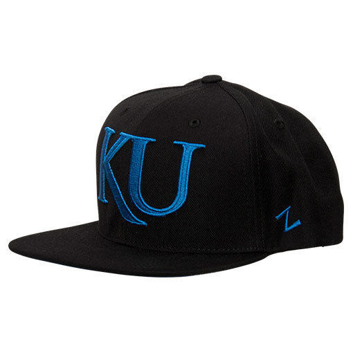 Primary image for Zephyr Kansas Jayhawks College Flash Custom Snapback Hat Black FLSHCKAN