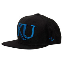 Zephyr Kansas Jayhawks College Flash Custom Snapback Hat Black FLSHCKAN - £20.18 GBP