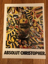 Absolut Christopher Miropolsky Original Magazine Ad - $3.99