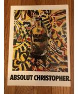Absolut Christopher Miropolsky Original Magazine Ad - $3.99