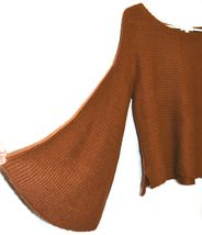 BP. Nordstrom Women's Oversized Flared Long Sleeve Brown Knit Sweater Size XS image 3