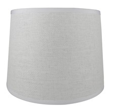 Urbanest French Drum Lampshade, White Woven Paper, 10x12x8.5 - $34.64