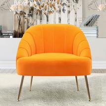 Nubuck Velvet Bucket Style Accent Chair, Yellow - $220.00