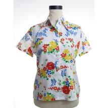 "Vintage Flower Blouse Top M 34"" - $9.99"