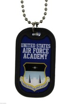 UNITED STATES AIR FORCE MILITARY ACADEMY DOG TAG WITH CHAIN - $22.55
