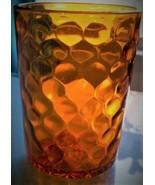 Fenton Vintage Amber Honeycomb Dot Glass Tumbler - $29.21