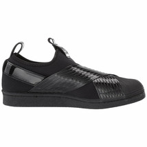 Adidas Women's Originals Superstar Slip On Black/Collegiate Purple BD8055 - $94.95