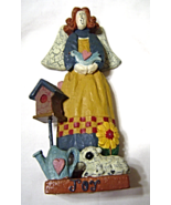 Country Joy Angel Figurine with Lamb and Bird House - $9.99