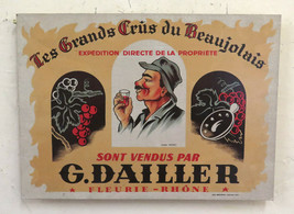 Old Advertising Poster Advertising Les Grands Crus Du Beaujolais BM41 - $55.22