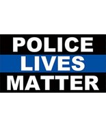 Police Lives Matter Support Police Officers Thin Blue Line Decal Car Sti... - $4.90