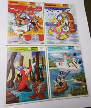 Vintage Walt Disney Golden Frame-Tray Puzzle Lot of 4 Donald Chip Dale P... - $22.76