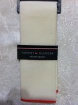 Tommy Hilfiger da Uomo Nuovo Beige 70%Cotone 30%Fazzoletto da Taschino i... - $27.52