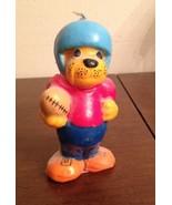 Super Cute Vintage dog with Football & Helmet wax candle beige mutt puppy - $10.89