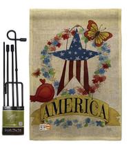 America Banner Star Burlap - Impressions Decorative Metal Garden Pole Fl... - $33.97