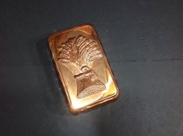 Vintage Wall Hanging/Cooking Solid Copper Fluted Rectangle Wheat Top Ca... - $28.04