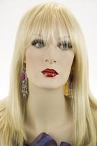 Light Pale Blonde Blonde Long Premium Remy Human Hair Skin Top Straight Wigs - $454.40