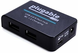 Plugable USB 2.0 4-Port High Speed Charging Hub with 12.5W Power Adapter... - $19.41