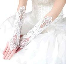 The Bride Marriage Yarn Dress Lace Long Gloves Wedding Gloves Mitten White