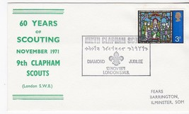 BOY SCOUTS DIAMOND JUBILEE CLAPHAM SCOUTS 60th ANNIVERSARY LONDON 11/13/... - $1.98