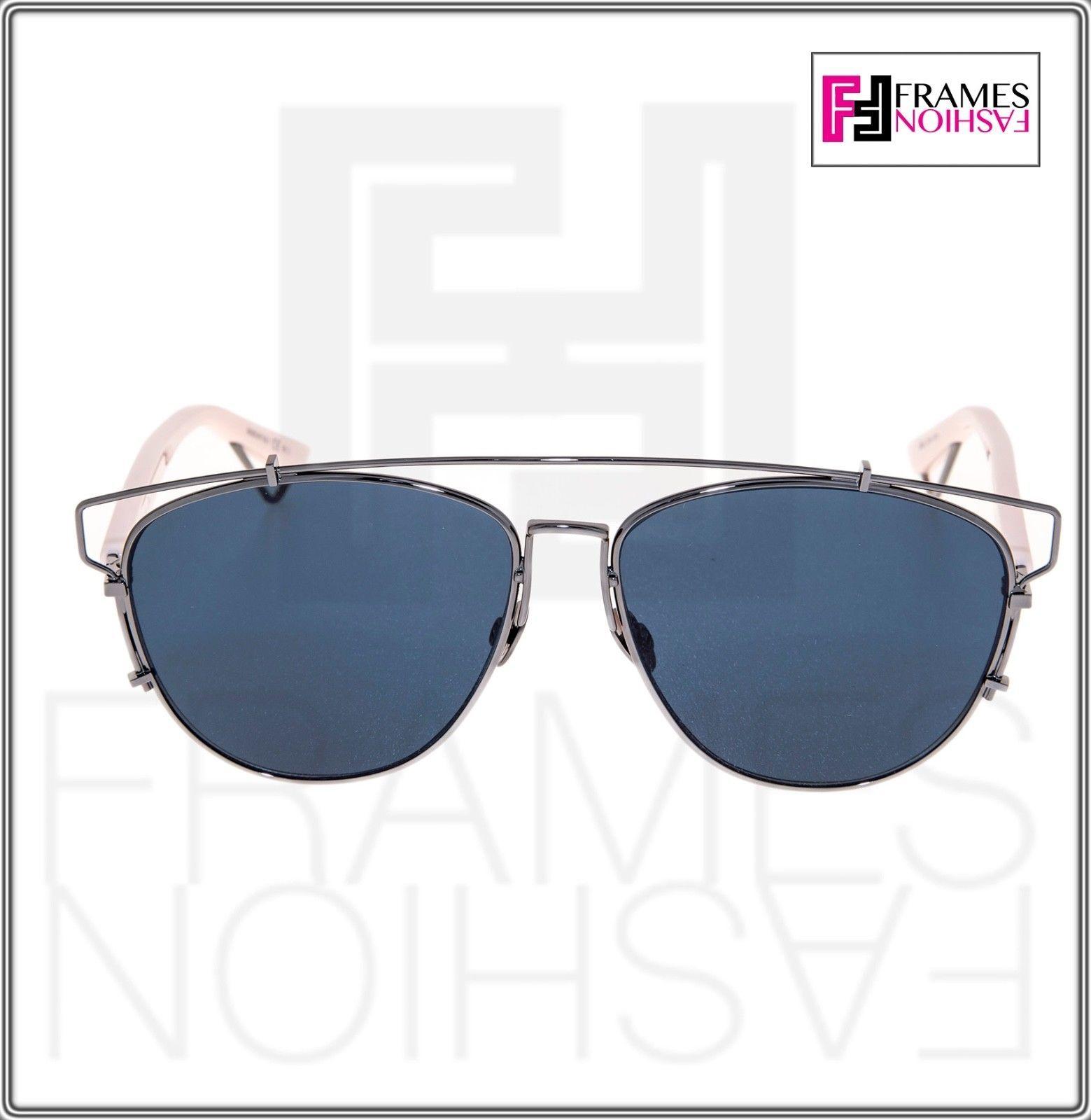 CHRISTIAN DIOR TECHNOLOGIC Ruthenium Pink Blue Flat Sunglasses DIORTECHNOLOGIC