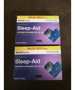 2x CVS Health Nighttime Sleep-Aid 96 Softgels Value Size ea. (192 Total)... - $19.79