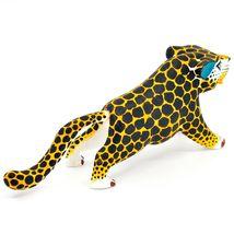 "Handmade Alebrijes Oaxacan Painted Wood Folk Art Leopard Jaguar 7"" Figurine image 4"