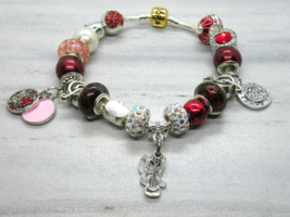 Music Teacher Themed European Murano Beaded Bracelet. Gift bag included - $19.95