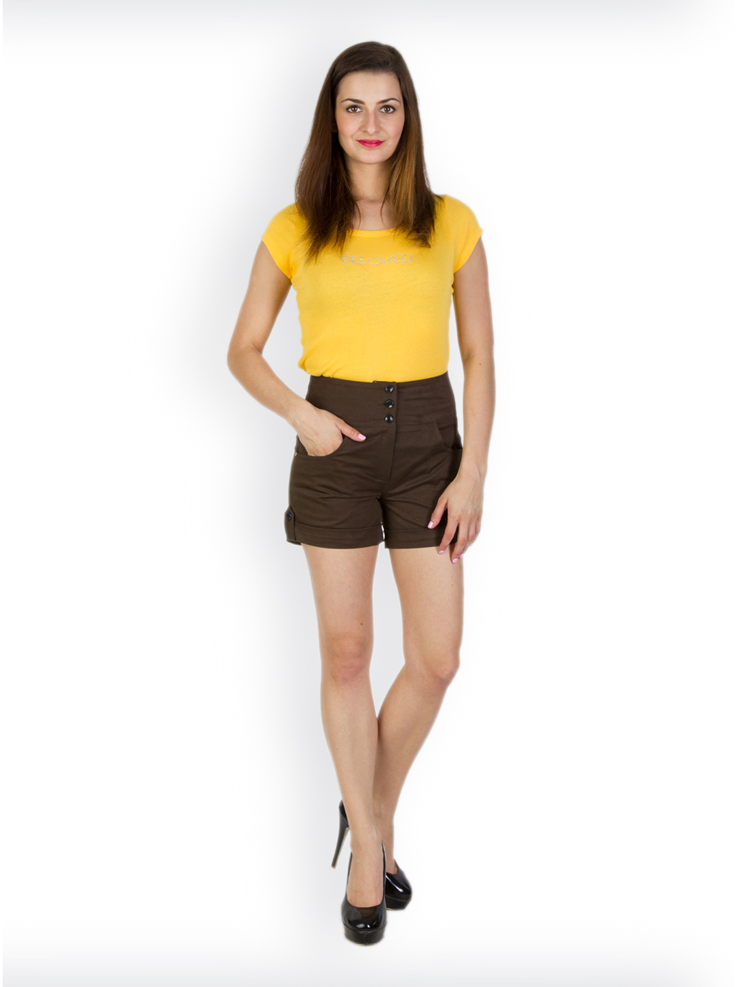 Rider Republic Women's Brown  Shorts