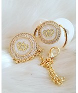 Princess Crown pacifier and clip ( backside Pearl) - $60.00