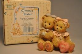 Cherished Teddies - Elizabeth & Ashley - 916277 - My Beary Best Friend -... - $13.85