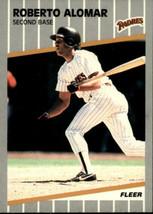 Roberto Alomar, Padres, Fleer 1989, #299 - $1.25