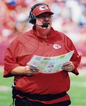 Andy Reid Coach Chiefs SA Vintage 8X10 Color Football Memorabilia Photo - $6.99