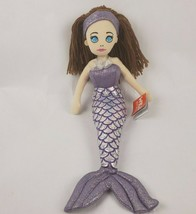 "Wild Republic Mermaid 17"" Plush Sirens of the Sea Rhythm Siren Purple Fin Doll - $21.29"