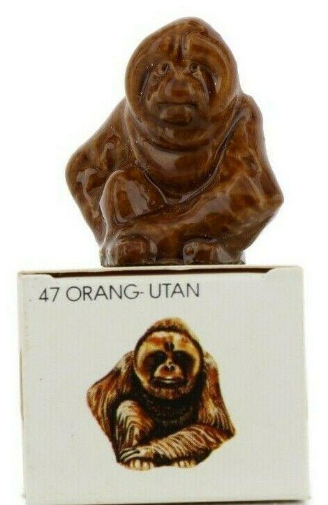 No.47 Orangutan Miniature Porcelain Figurine Picture Box Whimsies by Wade