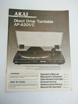AKAI AP-A201/C Turntable Original Operator's manual. - $12.00