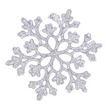 (silver)24pcs Snowflakes Christmas Decor 10cm Plastic Glitter Snow Flake O - $20.00