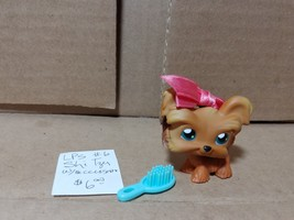 Littlest Pet Shop Shi Tzu Dog Bow in Hair #6 with Brush - $6.00