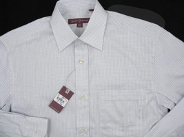 NEW $195 Hickey Freeman Dress Shirt!  15 Long (35)  White with Check Pattern - $79.99