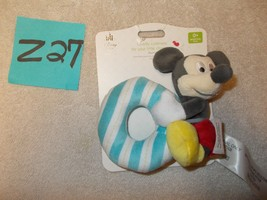Disney Store Infant Baby Plush Rattle Mickey Mouse  NEW - $14.99