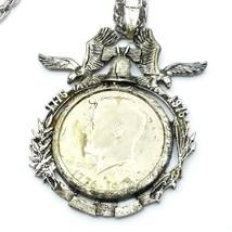 F98 Vintage bicentennial half dollar necklace - $49.50