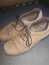 Rockport  Plain Toe  Leather Oxfords, Men's Size 8.5 , Brown - $18.81