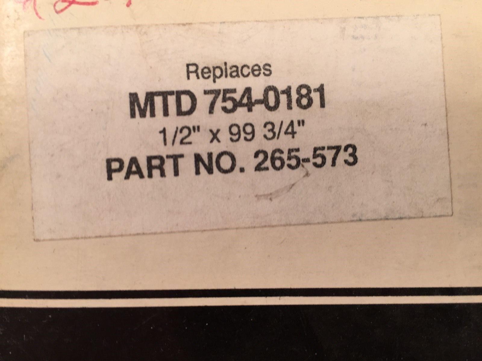 """Stens 265-573 Replacement Belt 1/2"""" x 99-3/4"""" MTD 754-0181"""