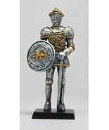 4 Inch Medieval Knight with Sword and Shield Resin Statue Figurine - £5.60 GBP