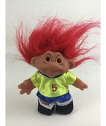 Totally Troll Doll Star Soccer Player 5 Red Hair Vintage 2001 Playmates ... - $14.80