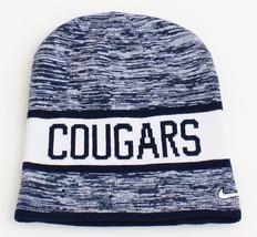 Nike Reversible BYU Cougars Dark Blue & White Knit Beanie Men's One Size - $25.98