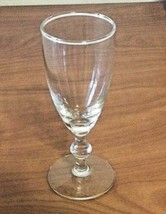Vintage Tulip Cordial Wine Clear Glass For Toasting  or Tasting Wine - $12.86